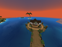 Close up of Fishing Pier and XP Island