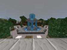 Neighborhood fountain and rest area